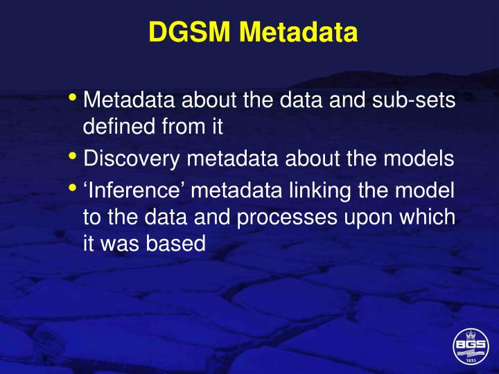 DGSM Metadata