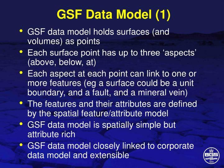 GSF Data Model (1)