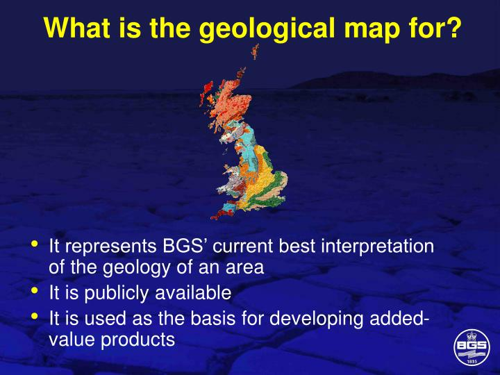 What is the geological map for?