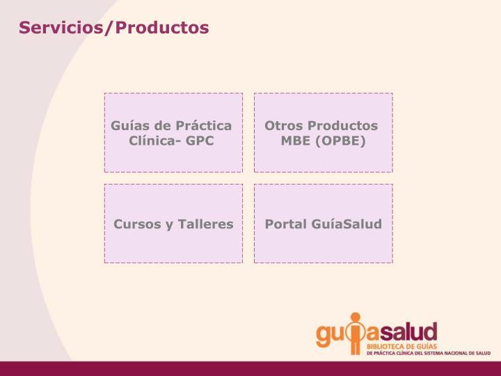 Servicios/Productos