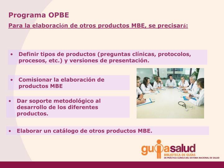 Programa OPBE