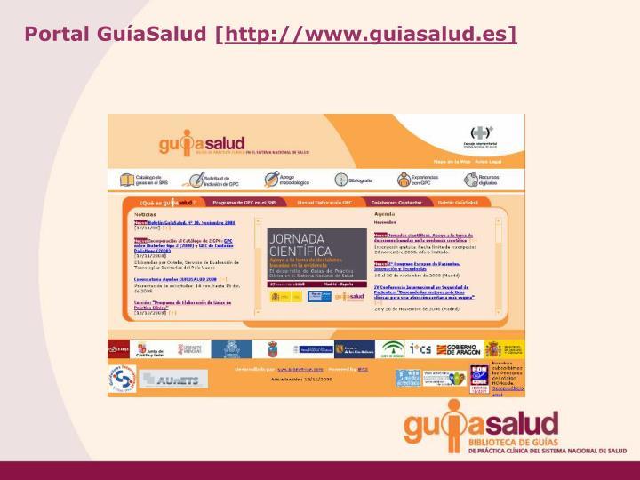 Portal GuíaSalud [