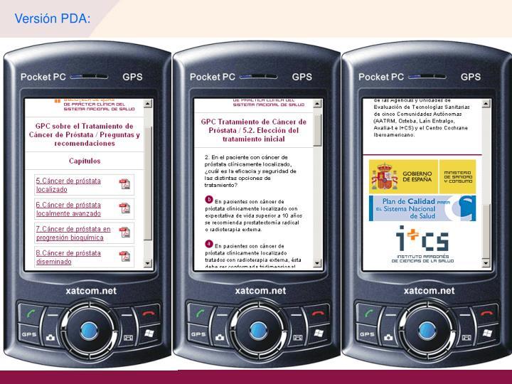 Versión PDA: