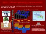 noah lsm with hydrological enhancements