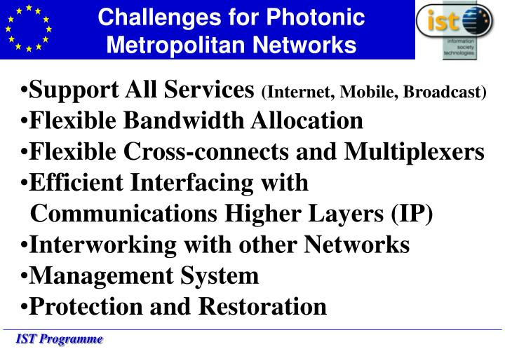 Challenges for Photonic