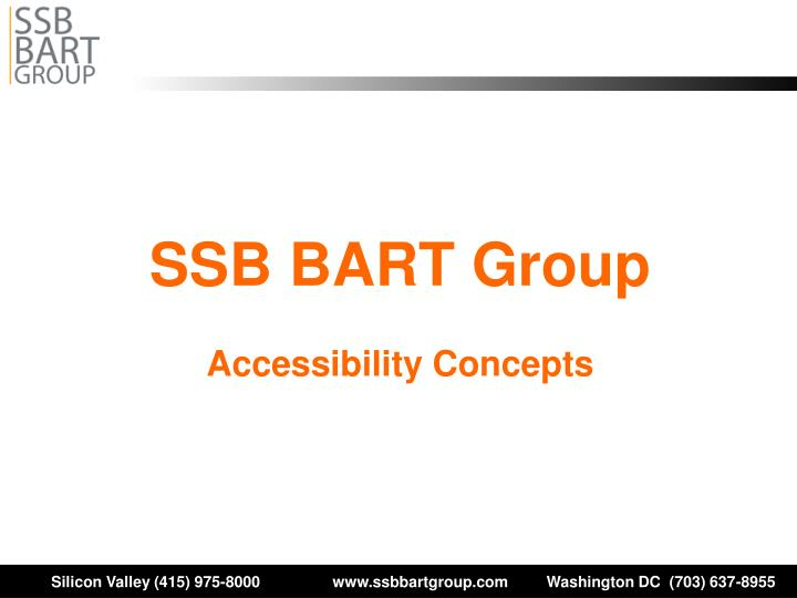 ssb bart group accessibility concepts n.
