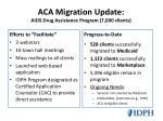 aca migration update aids drug assistance program 7 000 clients