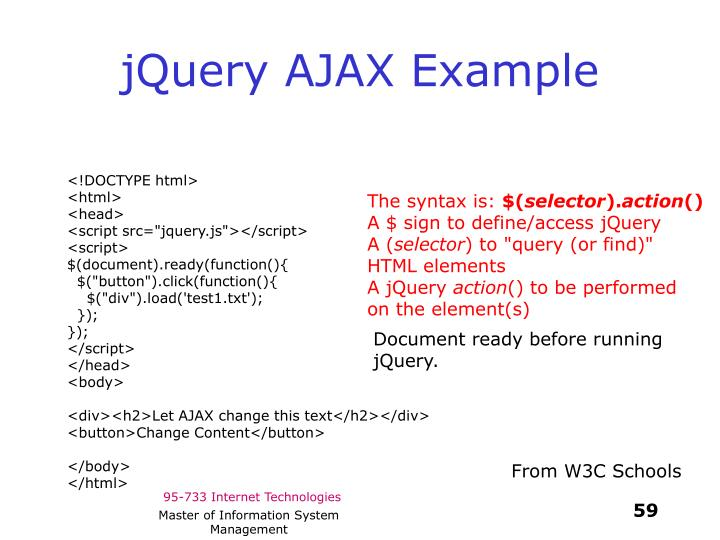 jQuery AJAX Example