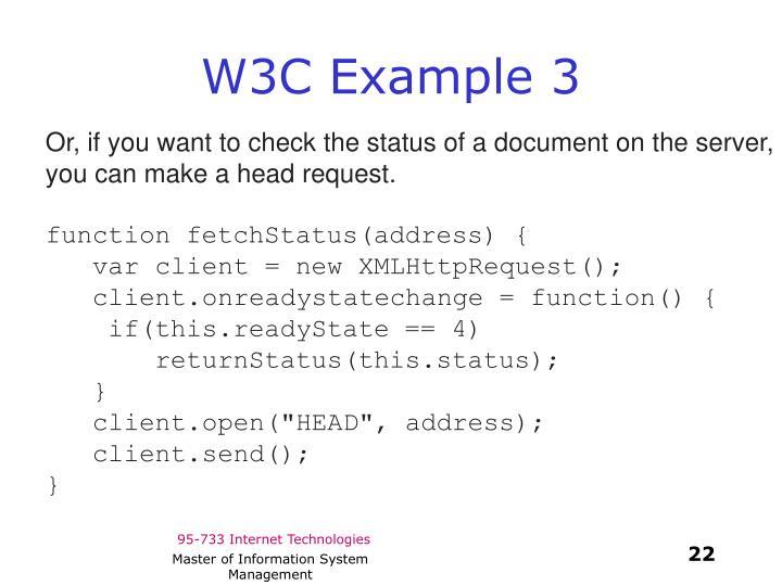 W3C Example 3