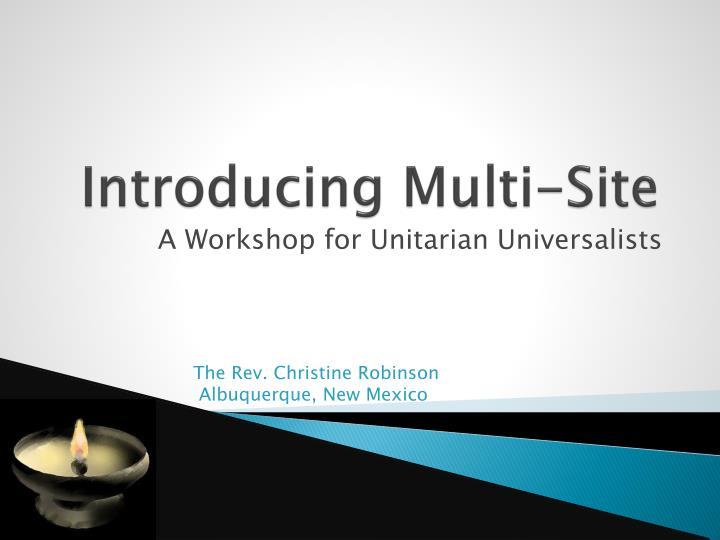 introducing multi site n.
