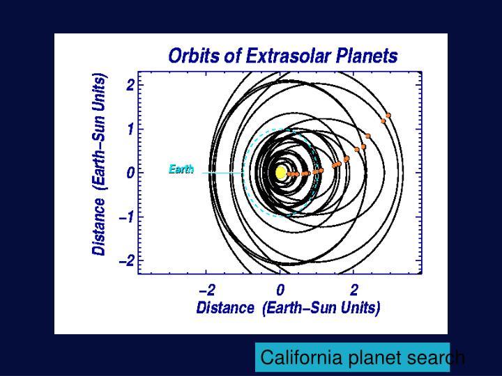 California planet search