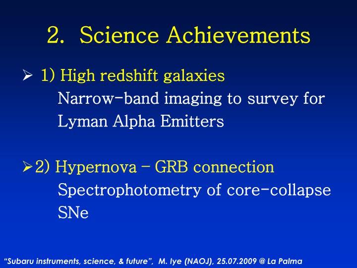 2.  Science Achievements
