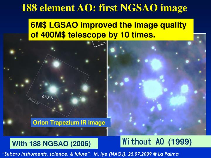 188 element AO: first NGSAO image