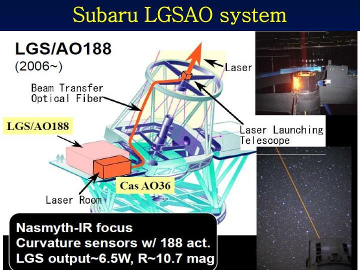 Subaru LGSAO system