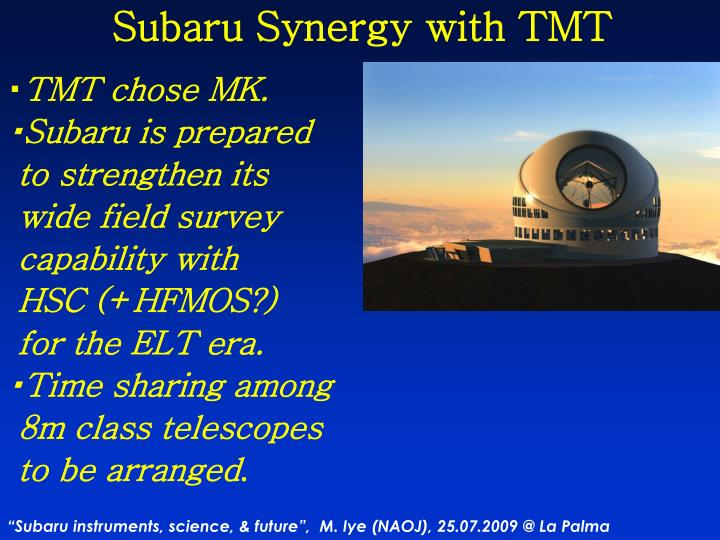 Subaru Synergy with TMT