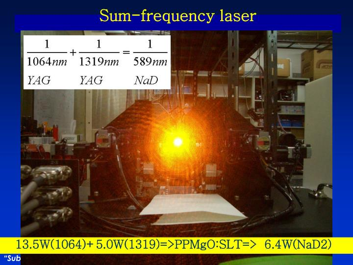 Sum-frequency laser