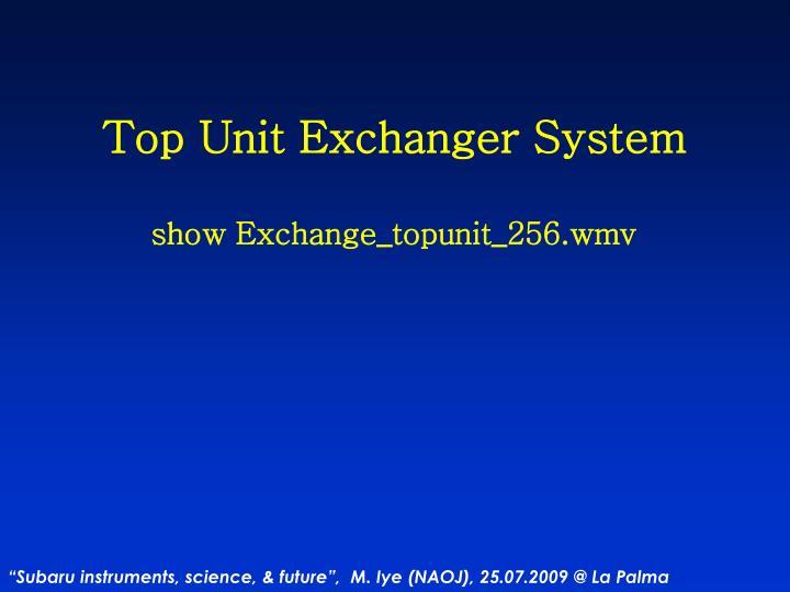 Top Unit Exchanger System