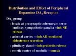 distribution and effect of peripheral dopamine da 2 receptor
