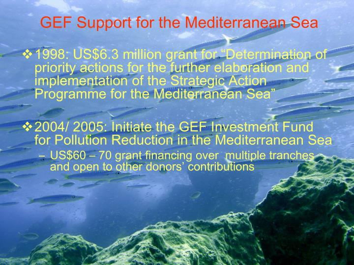 GEF Support for the Mediterranean Sea