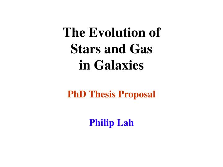 the evolution of stars and gas in galaxies n.