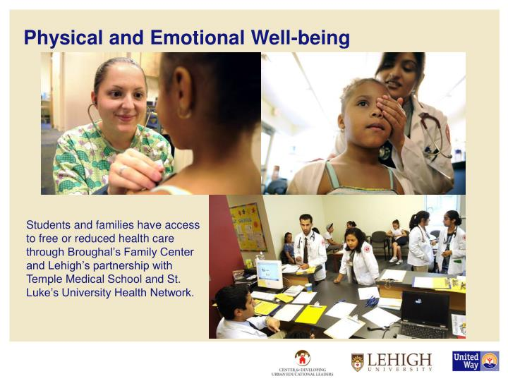 Physical and Emotional Well-being