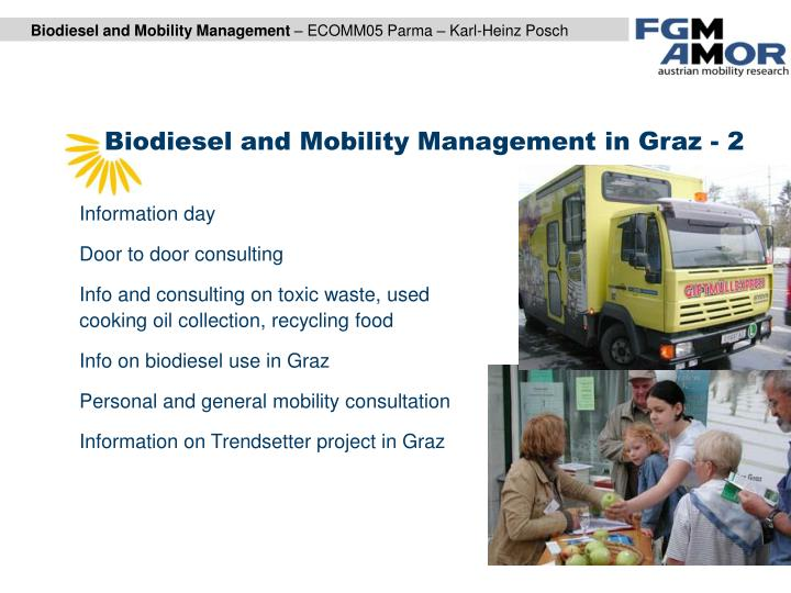 Biodiesel and Mobility Management in Graz - 2