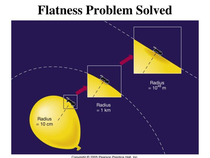 Flatness Problem Solved
