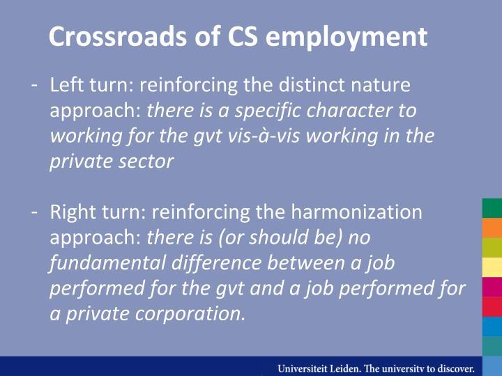 Crossroads of cs employment