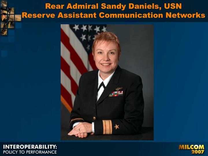 Rear Admiral Sandy Daniels, USN