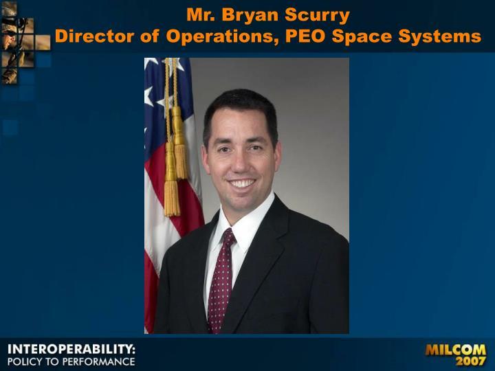 Mr. Bryan Scurry