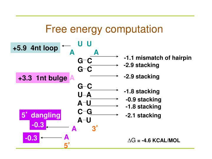 Free energy computation