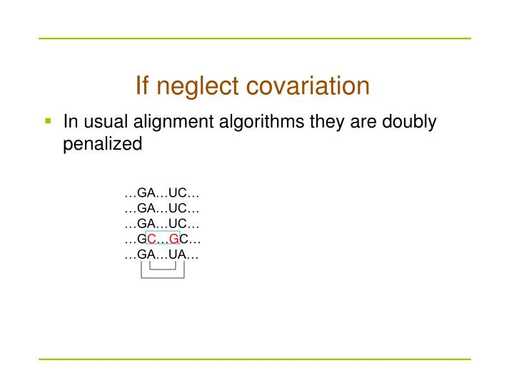 If neglect covariation