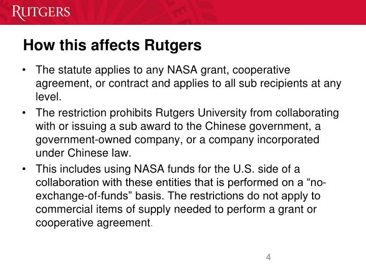How this affects Rutgers