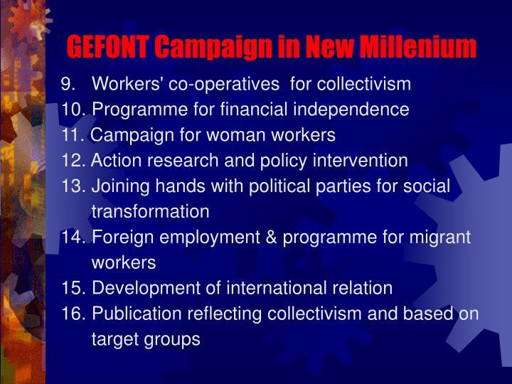 GEFONT Campaign in New Millenium