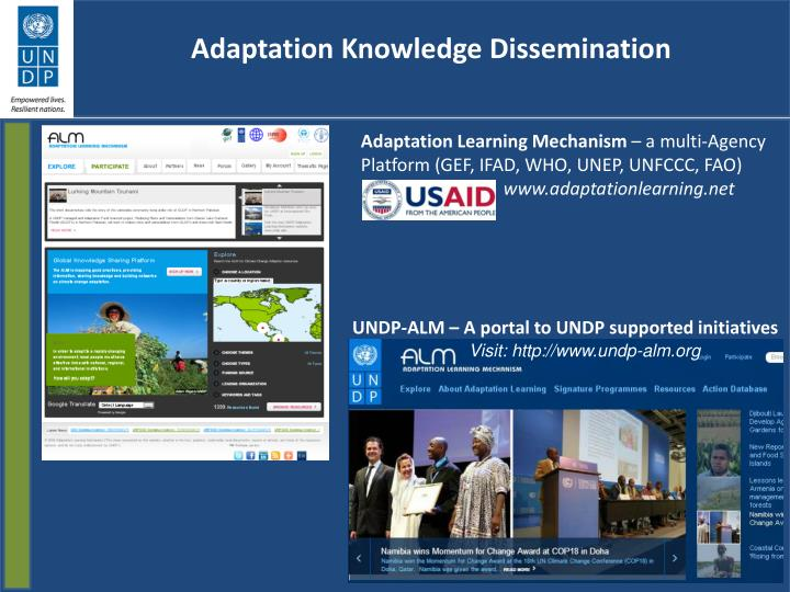 Adaptation Knowledge Dissemination