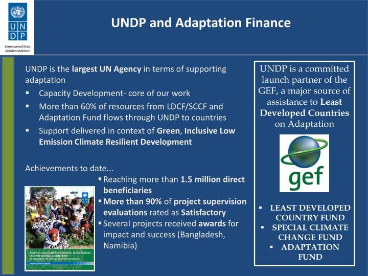Undp and adaptation finance