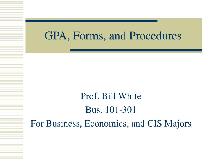 gpa forms and procedures n.