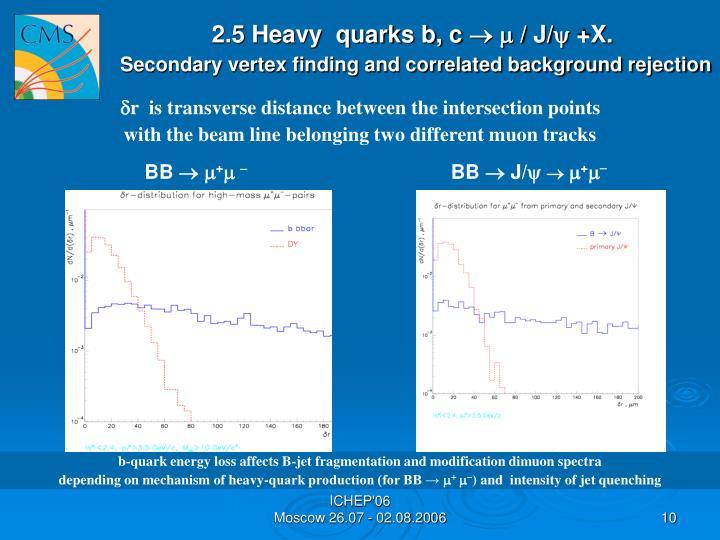 2.5 Heavy  quarks b, c