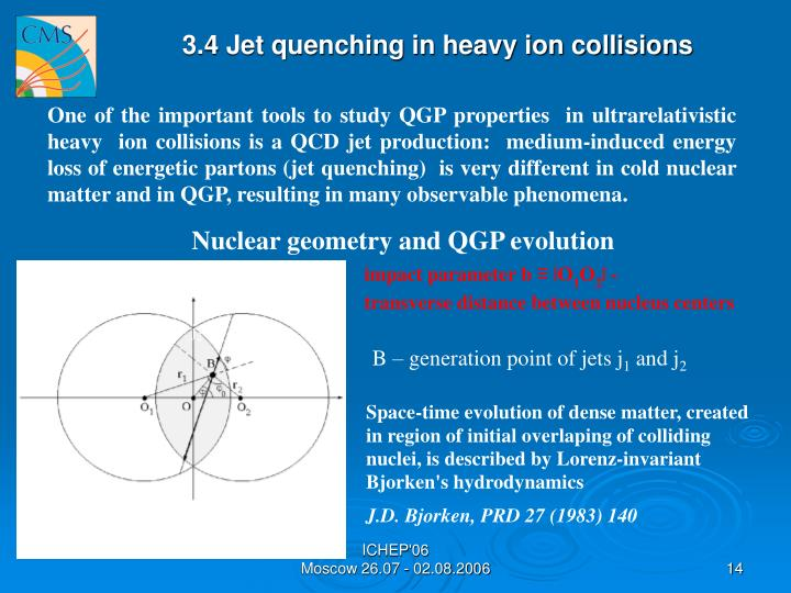 3.4 Jet quenching in heavy ion collisions