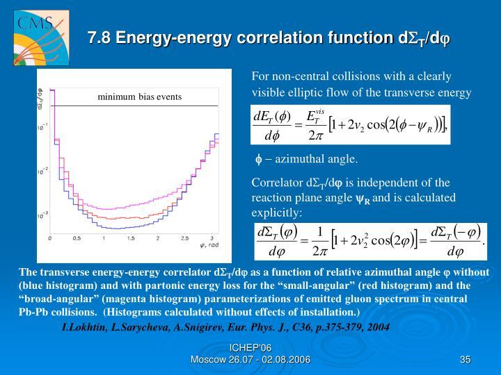 7.8 Energy-energy correlation function