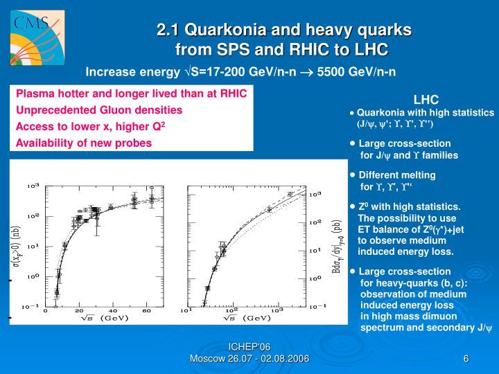 2.1 Quarkonia and heavy quarks