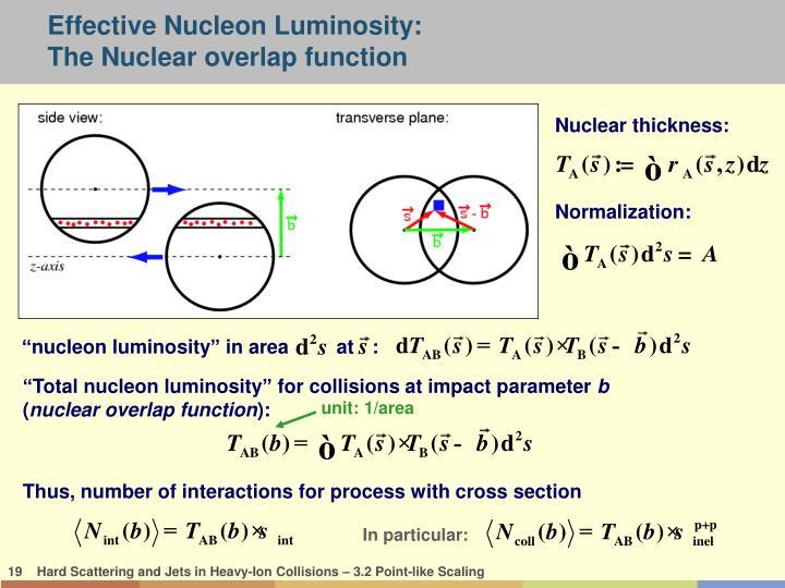 Effective Nucleon Luminosity: