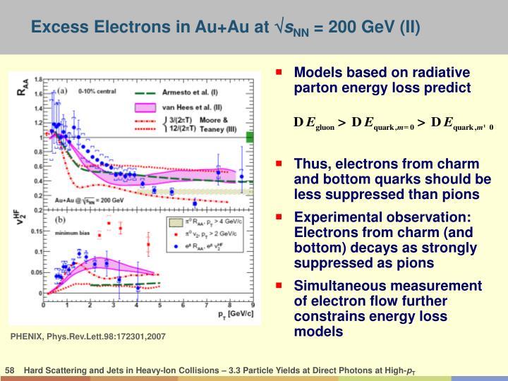Models based on radiative parton energy loss predict