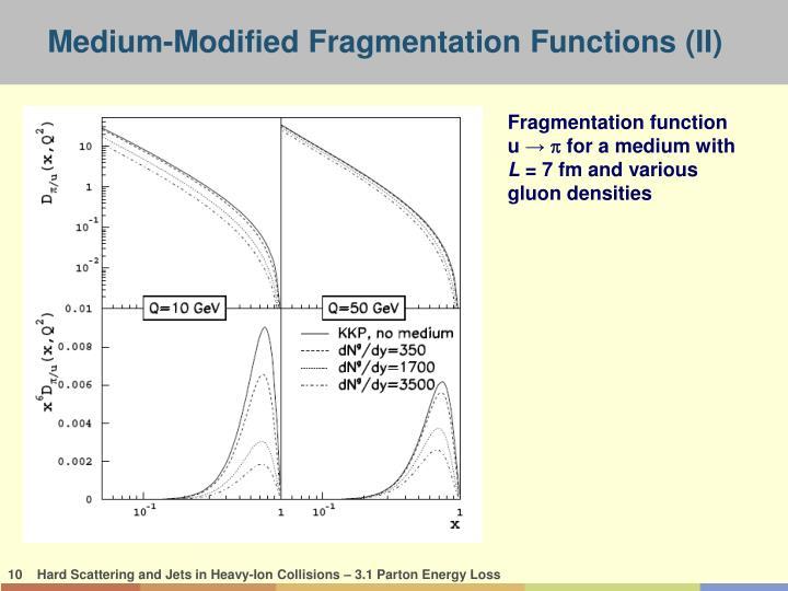 Medium-Modified Fragmentation Functions (II)