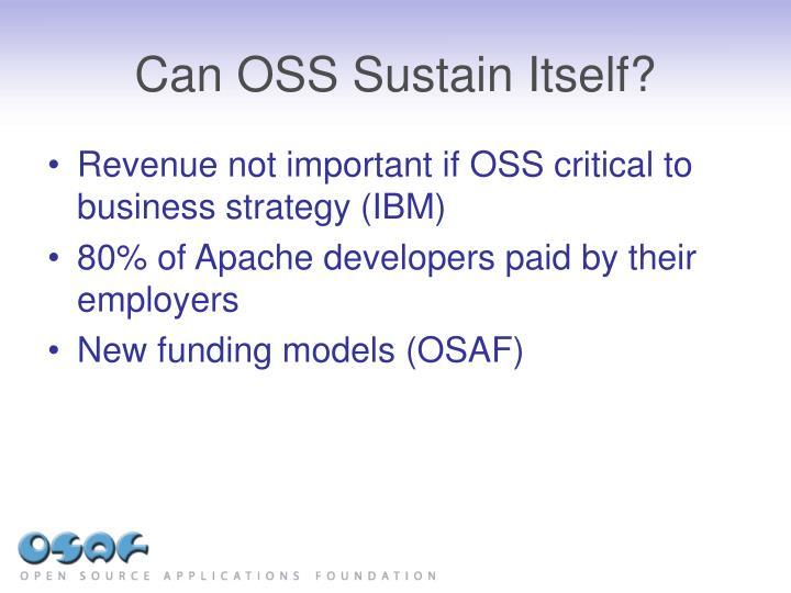 Can OSS Sustain Itself?
