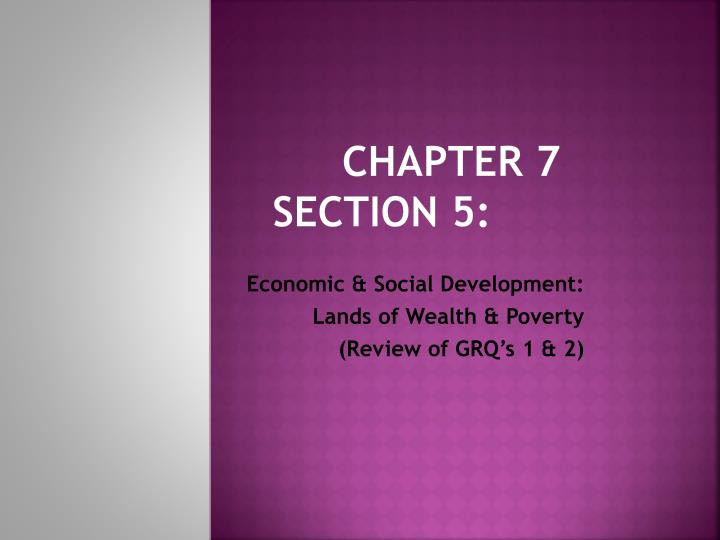 chapter 7 section 5 n.