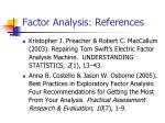 factor analysis references