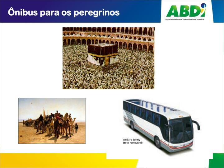 Ônibus para os peregrinos