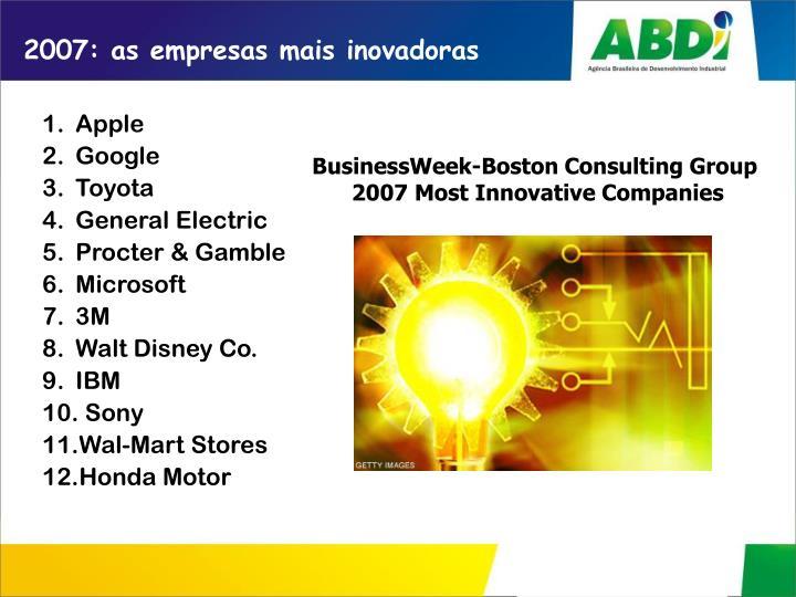 2007: as empresas mais inovadoras