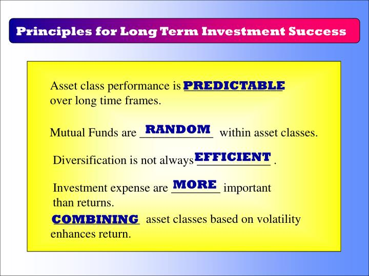 Principles for Long Term Investment Success